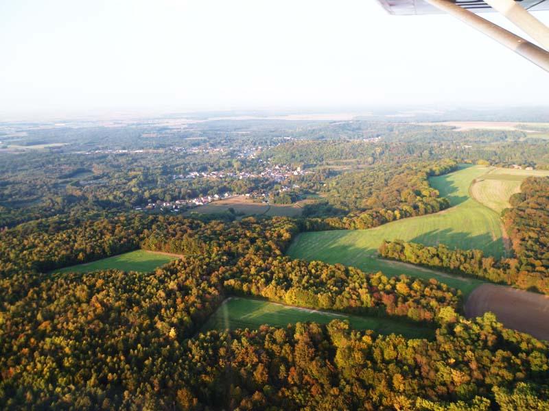 Vue aérienne des forêts du Soissonnais